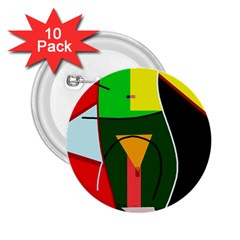 Abstract lady 2.25  Buttons (10 pack)