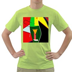 Abstract lady Green T-Shirt