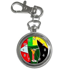 Abstract lady Key Chain Watches