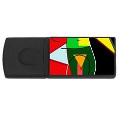 Abstract lady USB Flash Drive Rectangular (1 GB)