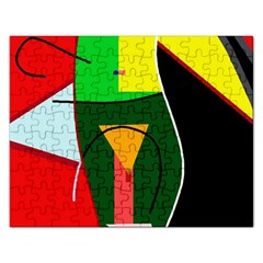Abstract lady Rectangular Jigsaw Puzzl