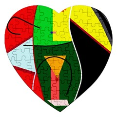 Abstract lady Jigsaw Puzzle (Heart)