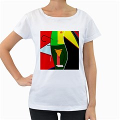 Abstract lady Women s Loose-Fit T-Shirt (White)