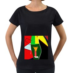 Abstract lady Women s Loose-Fit T-Shirt (Black)