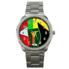 Abstract lady Sport Metal Watch