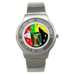 Abstract lady Stainless Steel Watch