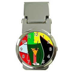 Abstract lady Money Clip Watches