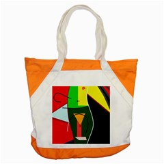 Abstract lady Accent Tote Bag