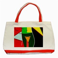 Abstract lady Classic Tote Bag (Red)