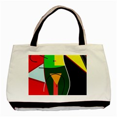 Abstract lady Basic Tote Bag (Two Sides)