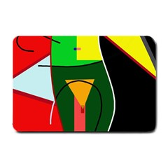 Abstract lady Small Doormat