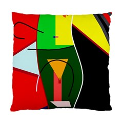 Abstract lady Standard Cushion Case (One Side)