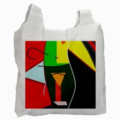 Abstract lady Recycle Bag (Two Side)