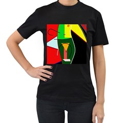 Abstract lady Women s T-Shirt (Black)