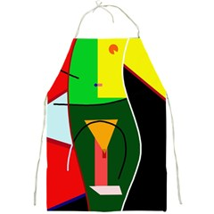 Abstract lady Full Print Aprons