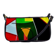 Abstract lady Shoulder Clutch Bags