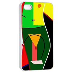 Abstract lady Apple iPhone 4/4s Seamless Case (White)