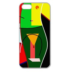 Abstract lady Apple Seamless iPhone 5 Case (Clear)