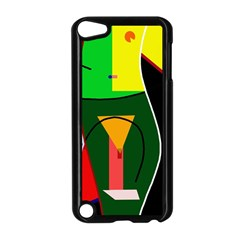 Abstract lady Apple iPod Touch 5 Case (Black)
