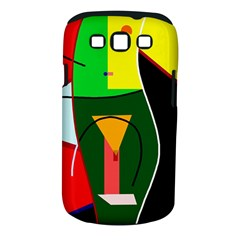 Abstract lady Samsung Galaxy S III Classic Hardshell Case (PC+Silicone)