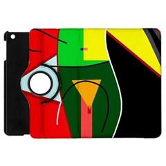 Abstract lady Apple iPad Mini Flip 360 Case