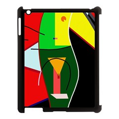 Abstract lady Apple iPad 3/4 Case (Black)