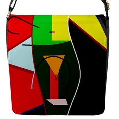 Abstract lady Flap Messenger Bag (S)