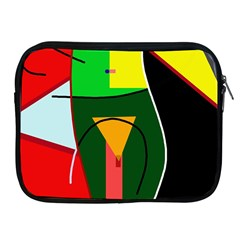Abstract lady Apple iPad 2/3/4 Zipper Cases