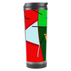 Abstract lady Travel Tumbler