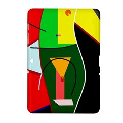 Abstract lady Samsung Galaxy Tab 2 (10.1 ) P5100 Hardshell Case