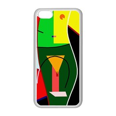 Abstract lady Apple iPhone 5C Seamless Case (White)