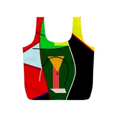 Abstract lady Full Print Recycle Bags (S)