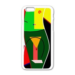 Abstract lady Apple iPhone 6/6S White Enamel Case