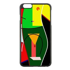 Abstract lady Apple iPhone 6 Plus/6S Plus Black Enamel Case