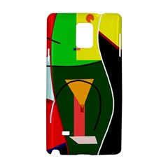 Abstract lady Samsung Galaxy Note 4 Hardshell Case