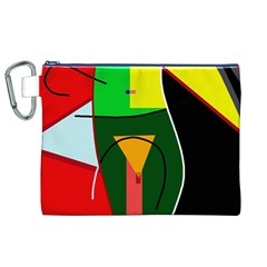 Abstract lady Canvas Cosmetic Bag (XL)