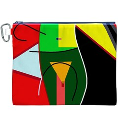 Abstract lady Canvas Cosmetic Bag (XXXL)