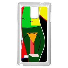 Abstract lady Samsung Galaxy Note 4 Case (White)
