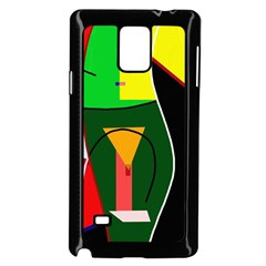 Abstract lady Samsung Galaxy Note 4 Case (Black)