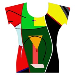 Abstract lady Women s Cap Sleeve Top