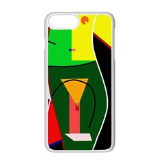 Abstract lady Apple iPhone 7 Plus White Seamless Case