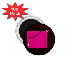 Pink square  1.75  Magnets (100 pack)