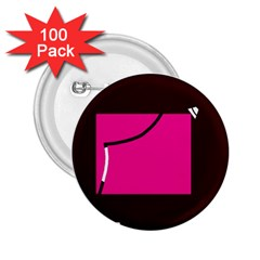 Pink square  2.25  Buttons (100 pack)