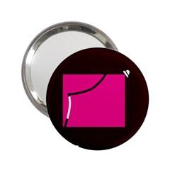 Pink square  2.25  Handbag Mirrors