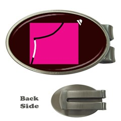 Pink square  Money Clips (Oval)