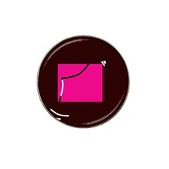 Pink square  Hat Clip Ball Marker (10 pack)