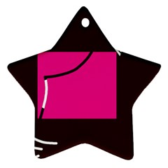 Pink square  Star Ornament (Two Sides)