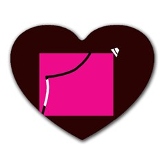 Pink square  Heart Mousepads