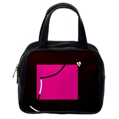 Pink square  Classic Handbags (One Side)