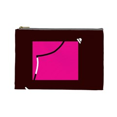 Pink square  Cosmetic Bag (Large)